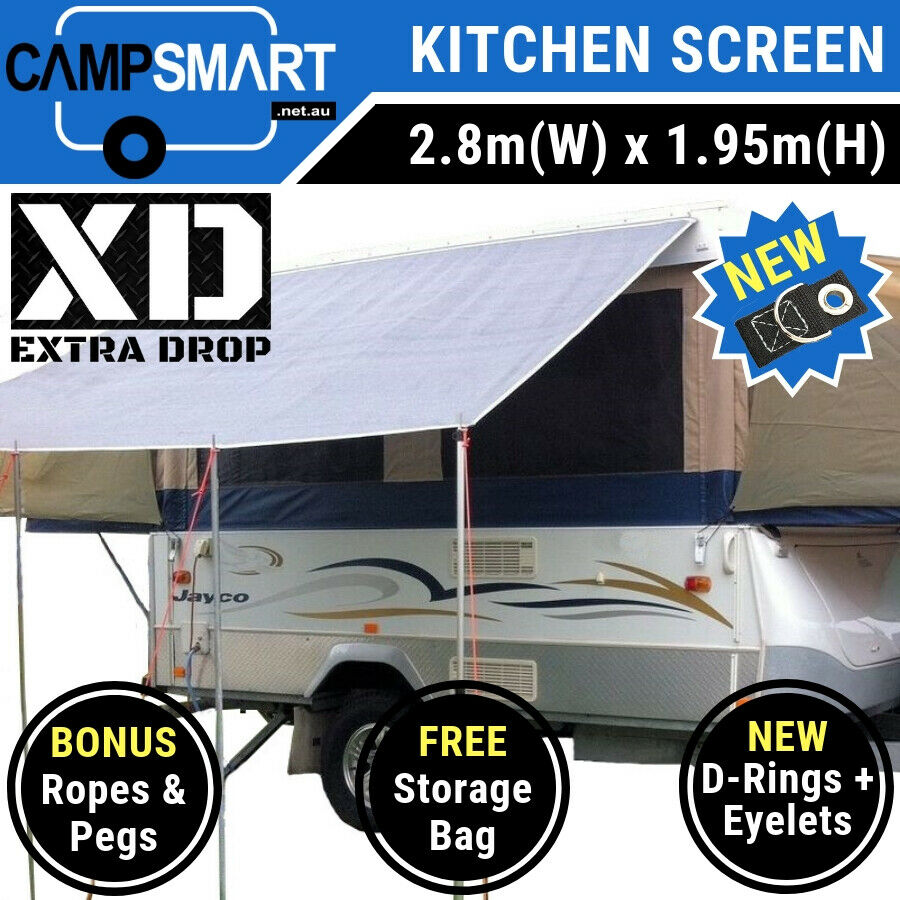 2 8m Kitchen Awning Sunscreen Privacy Screen To Suit