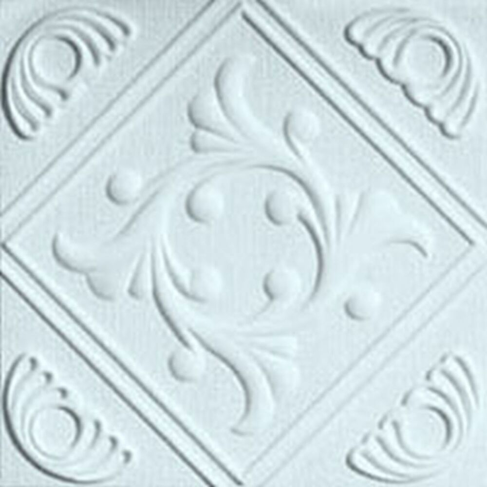 Extruded Styrofoam European Ceiling Tile 20x20 R Two White
