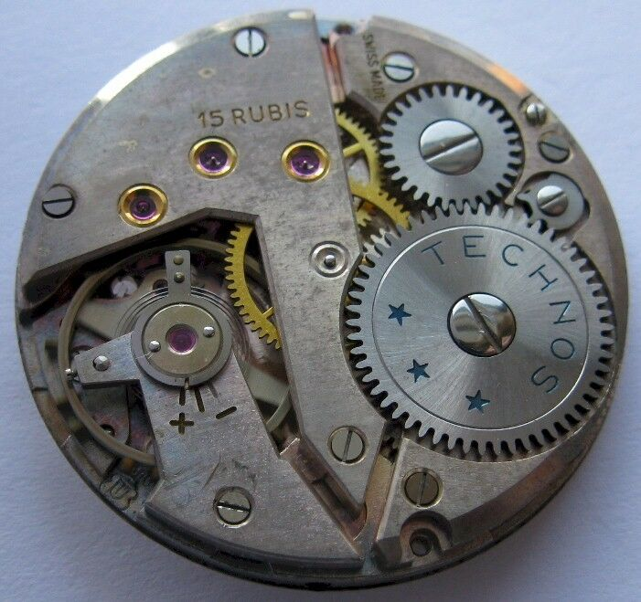 Unitas 6310 15 jewels technos watch movement for part ebay for Technos watches