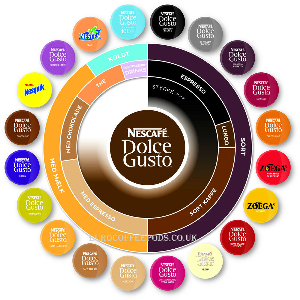nescafe dolce gusto 20 flavour variety pack 120 capsules or select your own ebay. Black Bedroom Furniture Sets. Home Design Ideas
