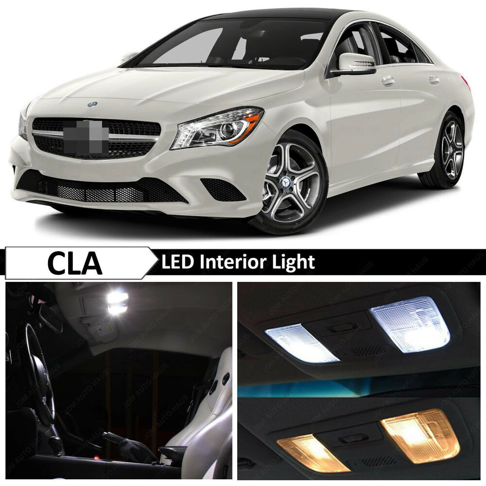 13x white interior led light package mercedes benz cla250 for Led light for mercedes benz