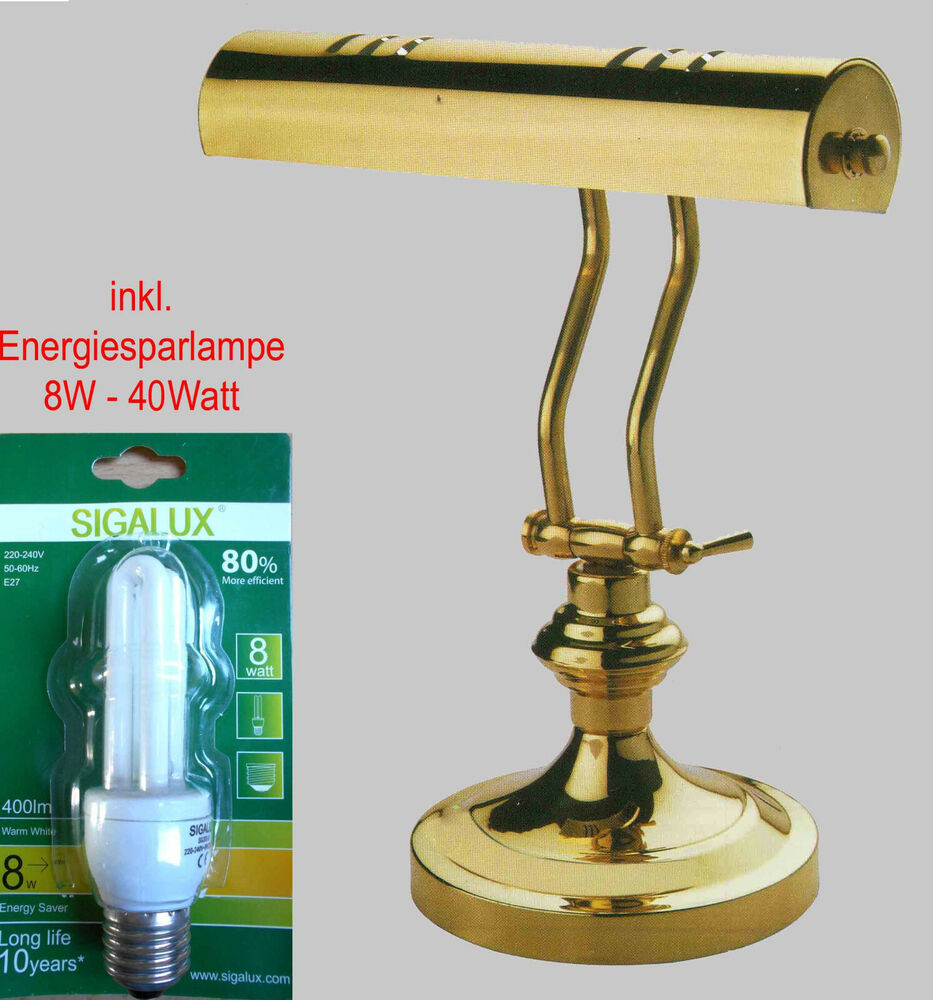 piano lampe clairage de piano lampe de bureau lampe de chevet laiton incl ampoule ebay. Black Bedroom Furniture Sets. Home Design Ideas