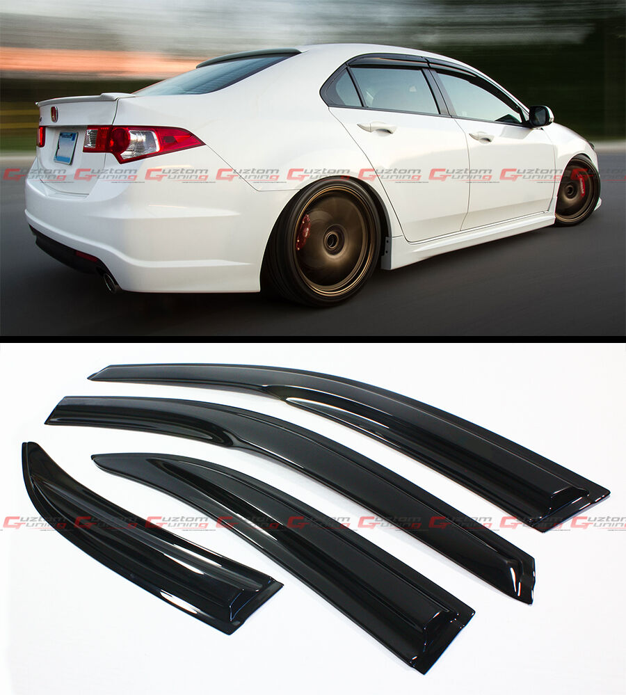 FOR 2009-14 ACURA TSX 4 DOOR SEDAN CU2 WAVY STYLE SMOKE