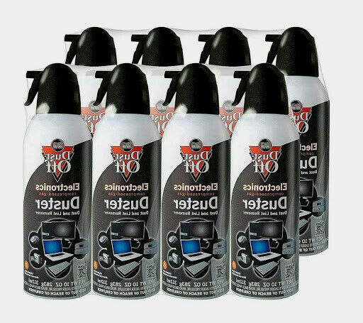 falcon dust off 4 pack 10 oz cans remover compressed canned air duster computer ebay. Black Bedroom Furniture Sets. Home Design Ideas