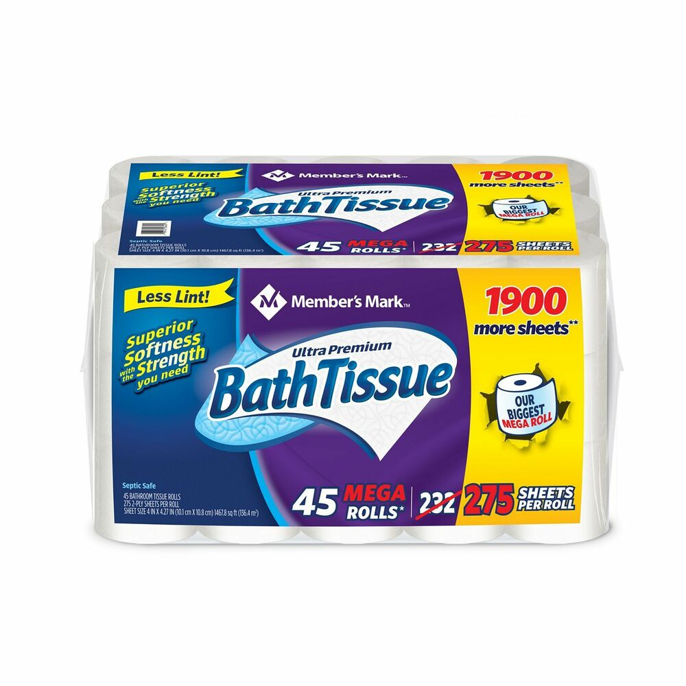 Members Mark Toilet Paper Bath Tissue Ultra Premium 2 Ply