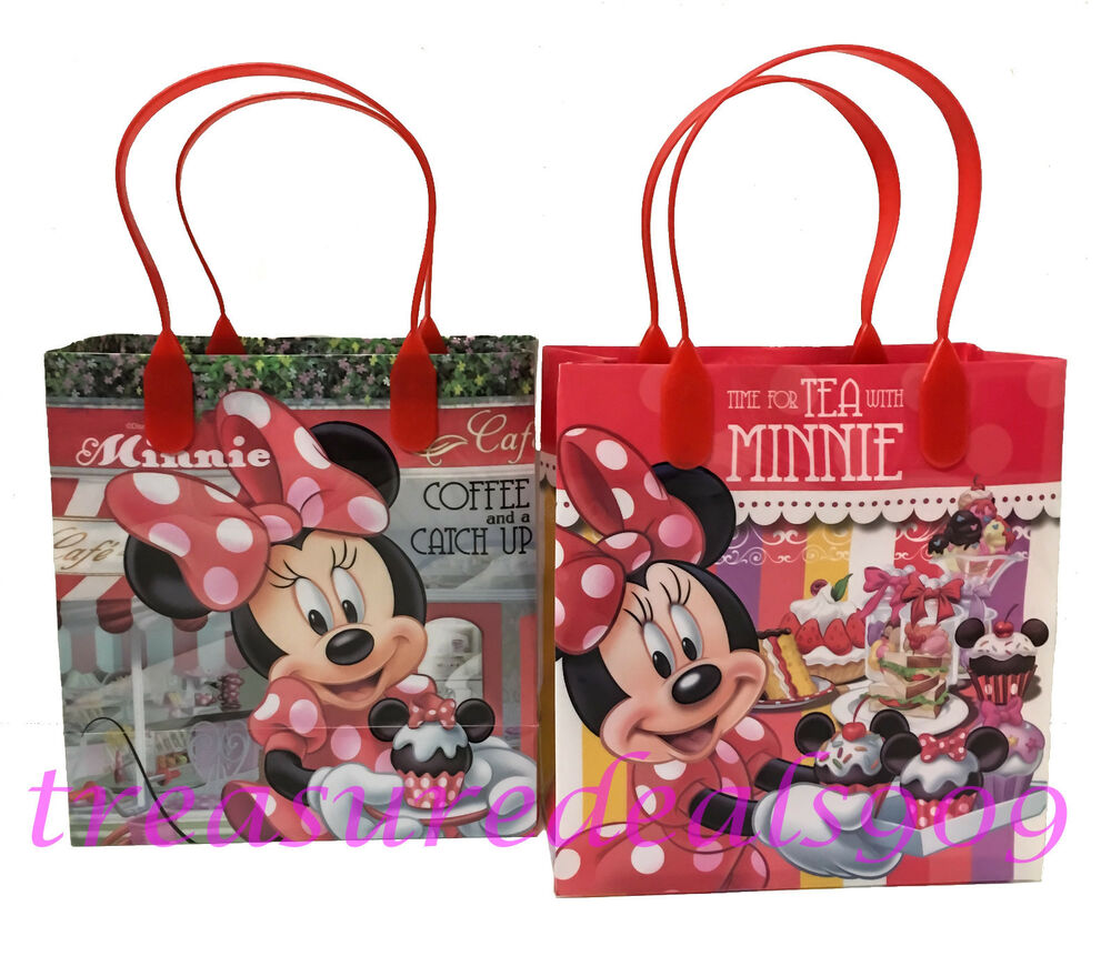 24 pc disney minnie mouse goodie gift bags party favors. Black Bedroom Furniture Sets. Home Design Ideas