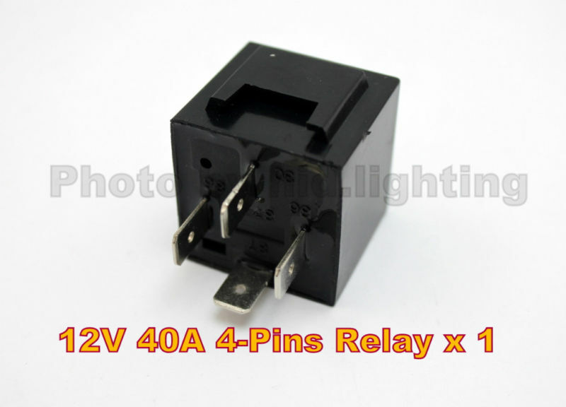 12v 4 Pin Spdt Automotive Relay 30a 40a Hid 12volt Amp
