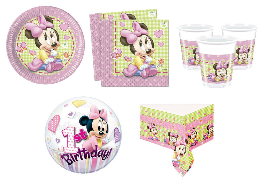 Baby minnie mouse birthday party supplies decorations girl for Baby minnie decoration