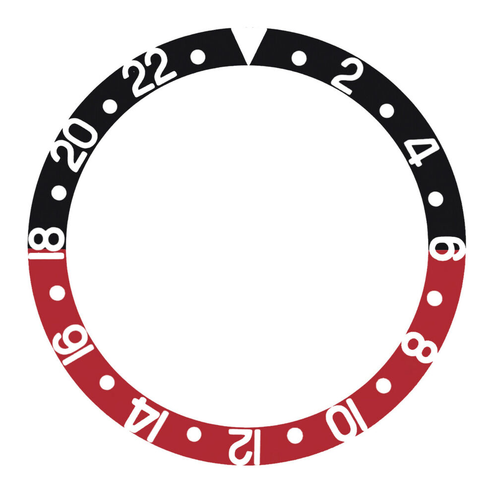 bezel insert for invicta 8926ob gmt black red ebay. Black Bedroom Furniture Sets. Home Design Ideas