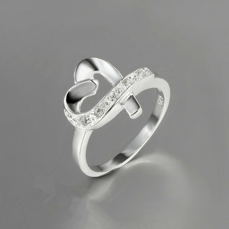 925 silver plated ring thumb ring with zircon