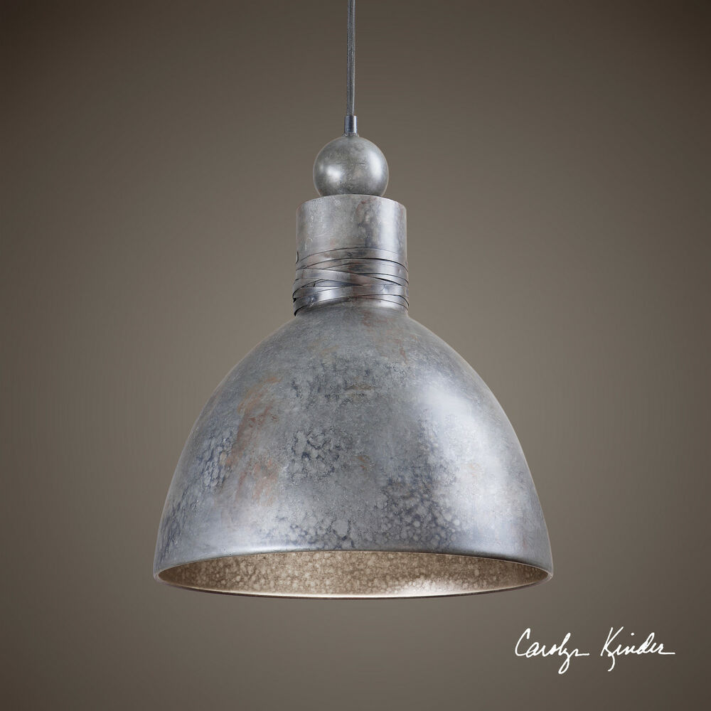 Rustic hand forged metal finish pendant hanging ceiling for Metal hanging lights