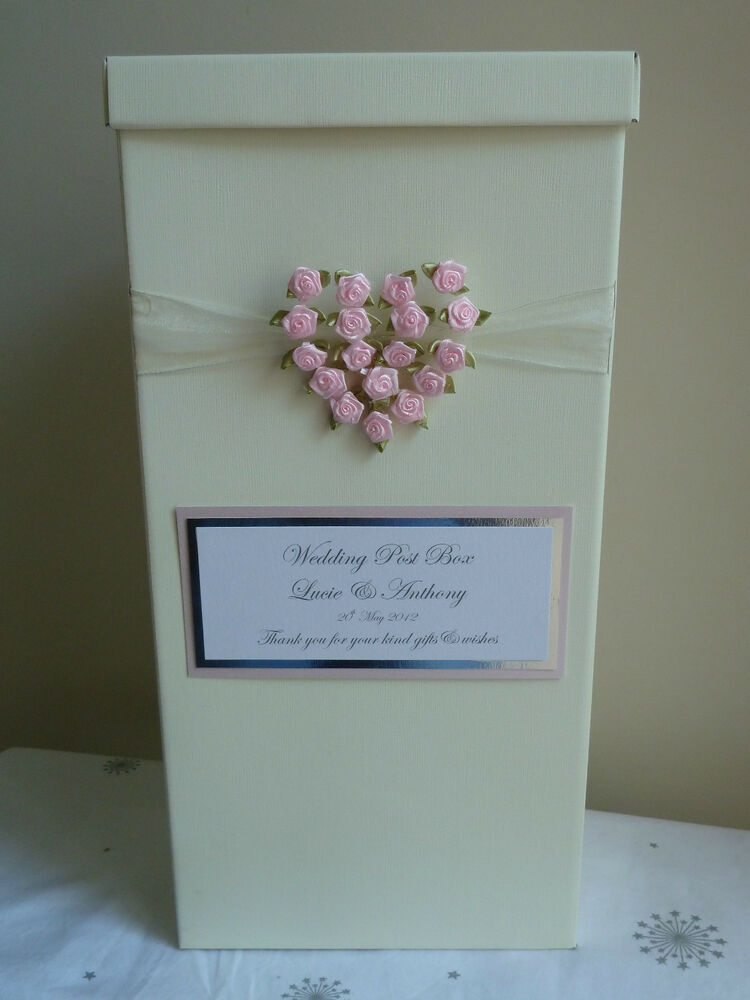 Wedding Post Box With Rose Heart Choose Rose Heart Colour