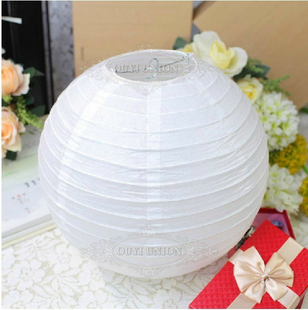 Paper Lanterns Wedding Decoration Ideas: Wholesale 12inch White Chinese Paper Lantern Lamp Party