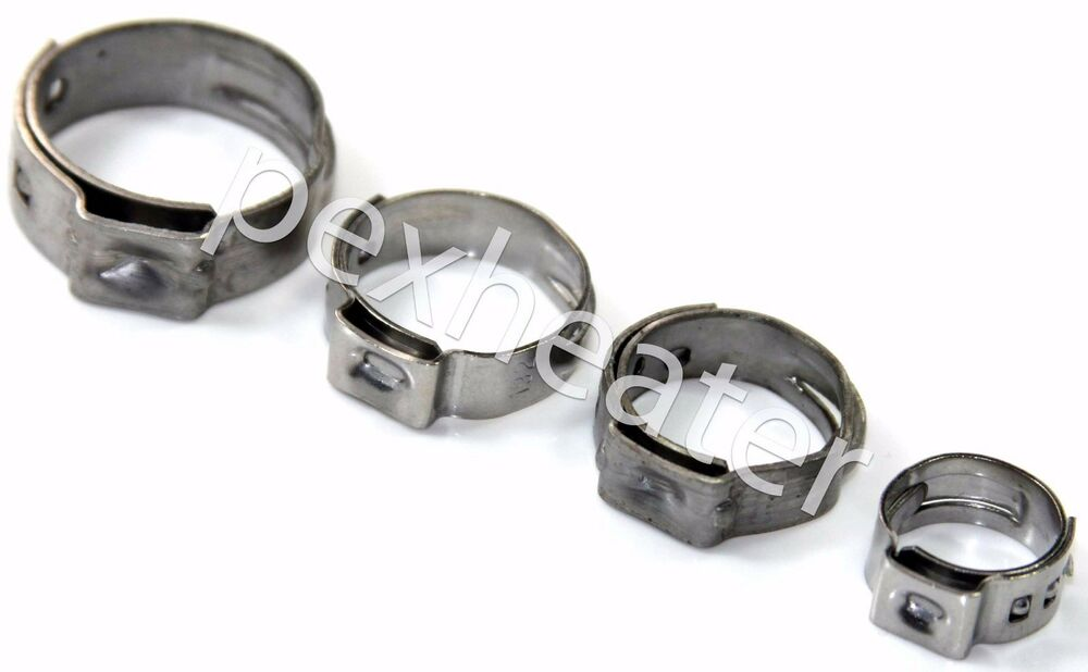 Pex quot stainless steel ear clamps cinch ring clamp