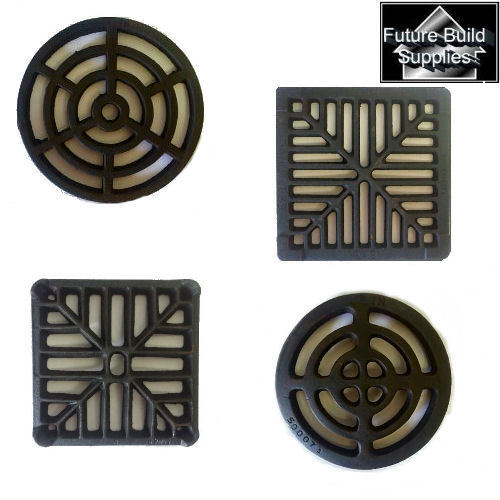 Square round cast iron gully grid grate heavy duty drain