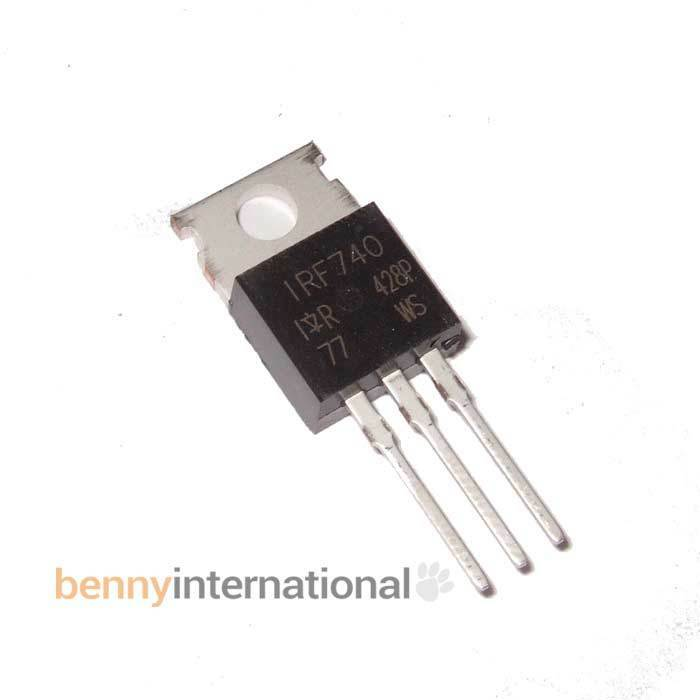 International Rectifier 5x IRF740 N-Channel MOSFET 400V 10A 0,55Ohm