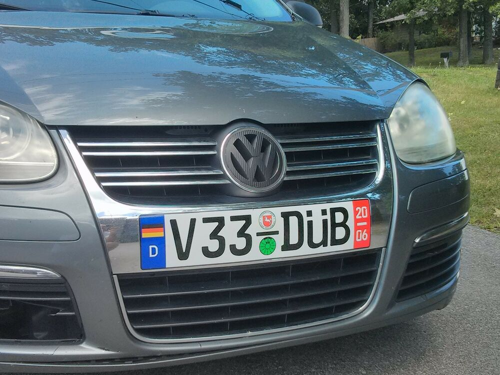 volkswagen euro plate decal vw mk5 jetta golf rabbit gti. Black Bedroom Furniture Sets. Home Design Ideas