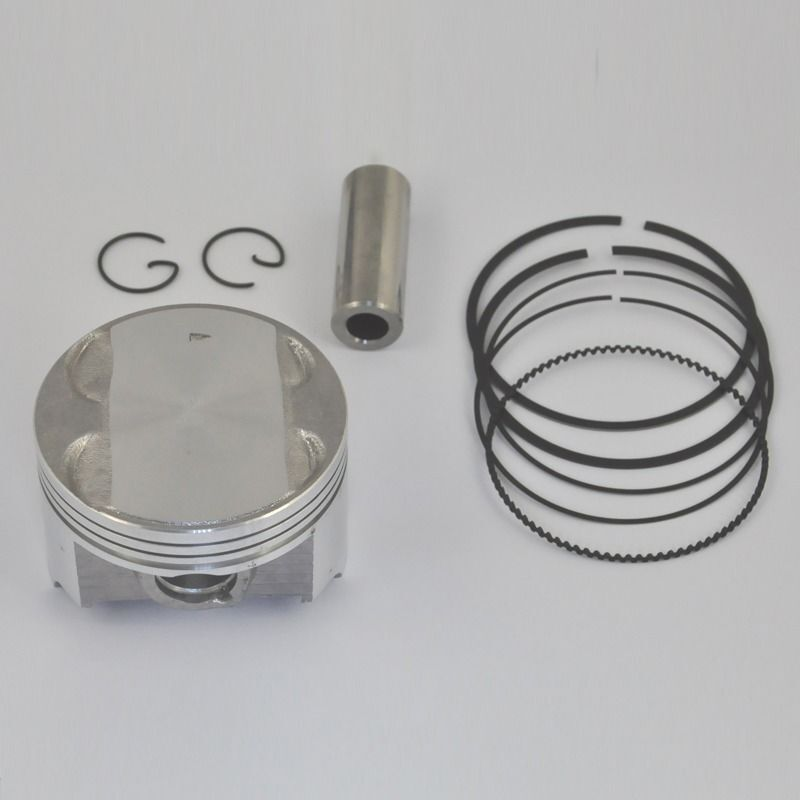 Motorcycle Engine Parts Std Cylinder Bore Size 66mm: Piston Set With Pin Rings Clip Kit For Suzuki AN250 STD