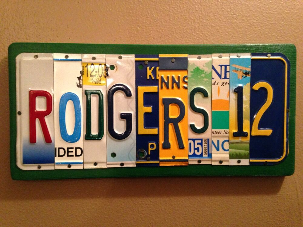 Custom made wood sign of license plate letters and numbers for Custom license plate letters