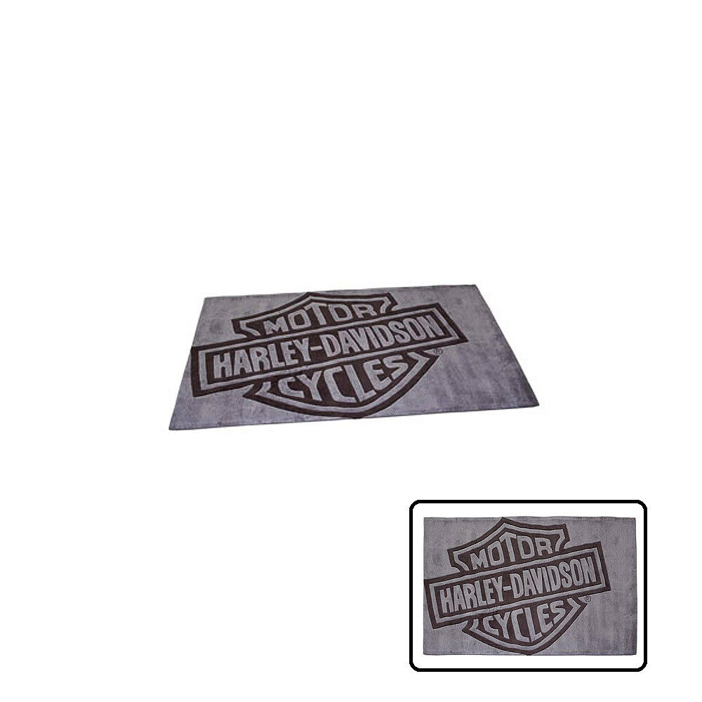 Genuine Harley-Davidson Bar u0026 Shield Rug Mat 5ft x 3ft Christmas Gift : eBay