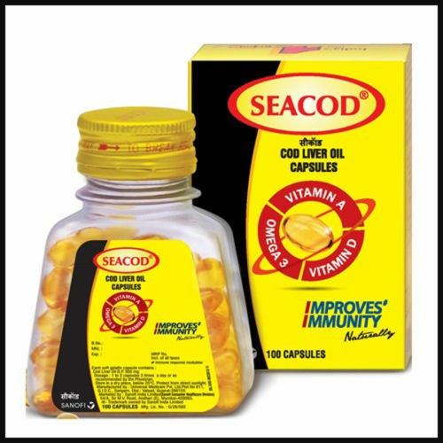 seacod cod liver fish oil softgels natural omega 3 dha