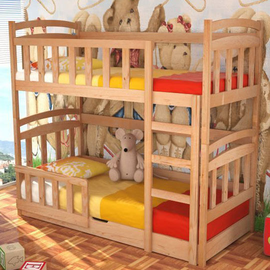 Kids Bed Maciej With Mattresses Bunk Bed Storage