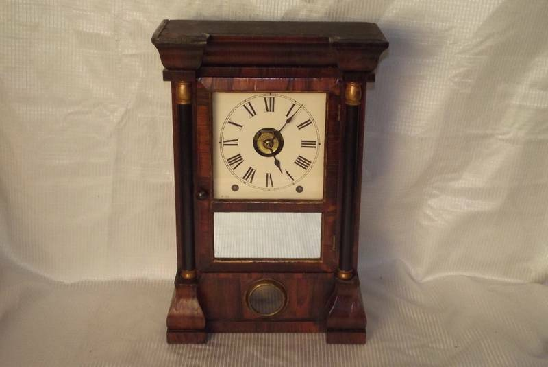 early seth thomas 8 day t  s and alarm mantle clock