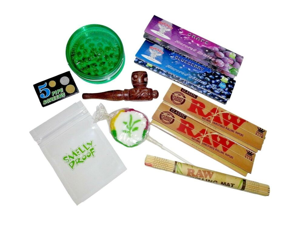 Rolling Kit Herb Grinder Raw Hornet Flavour Papers Tips