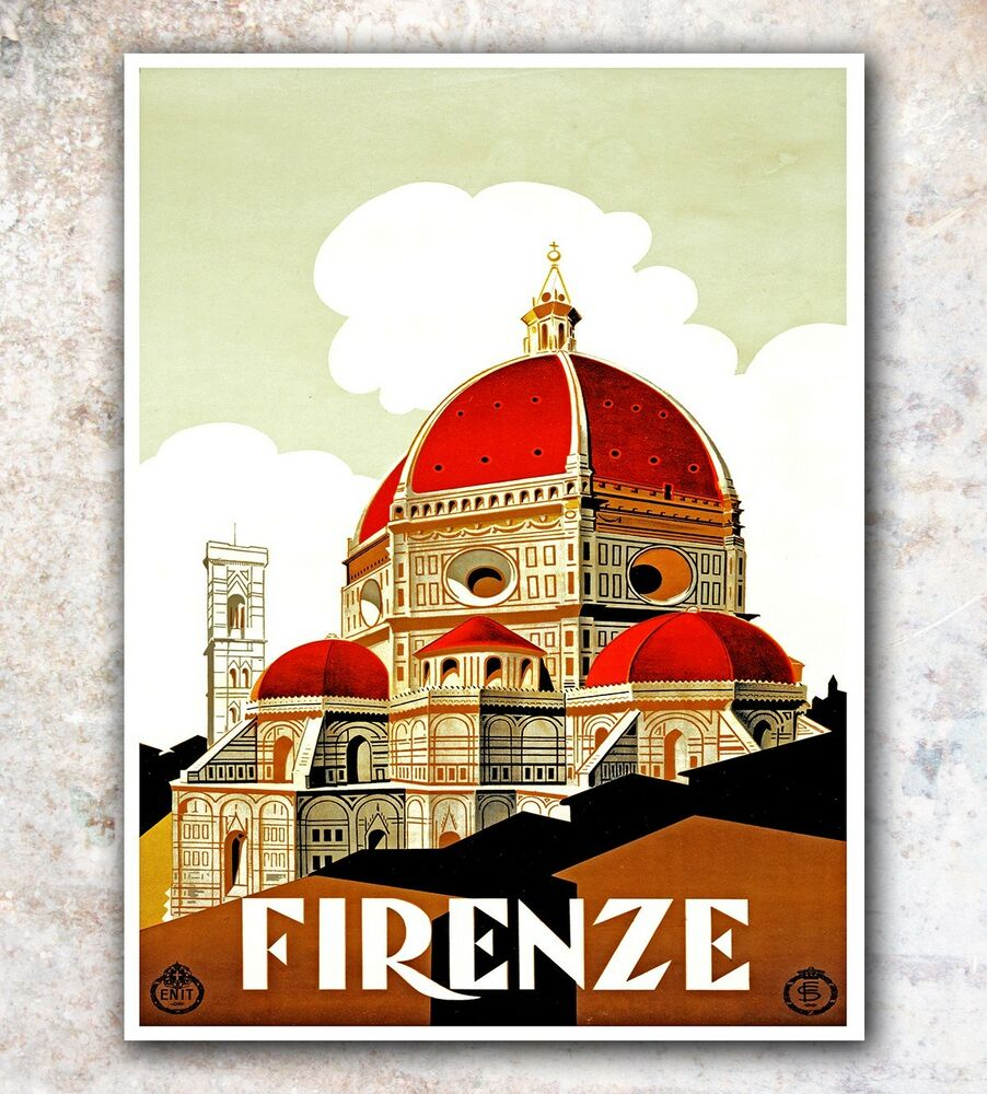 italy art travel poster florence wall decor print 11x14 a34 ebay. Black Bedroom Furniture Sets. Home Design Ideas