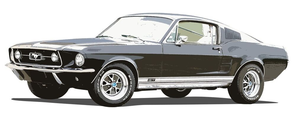 men 39 s t shirt 1967 ford mustang gt fastback ideal. Black Bedroom Furniture Sets. Home Design Ideas