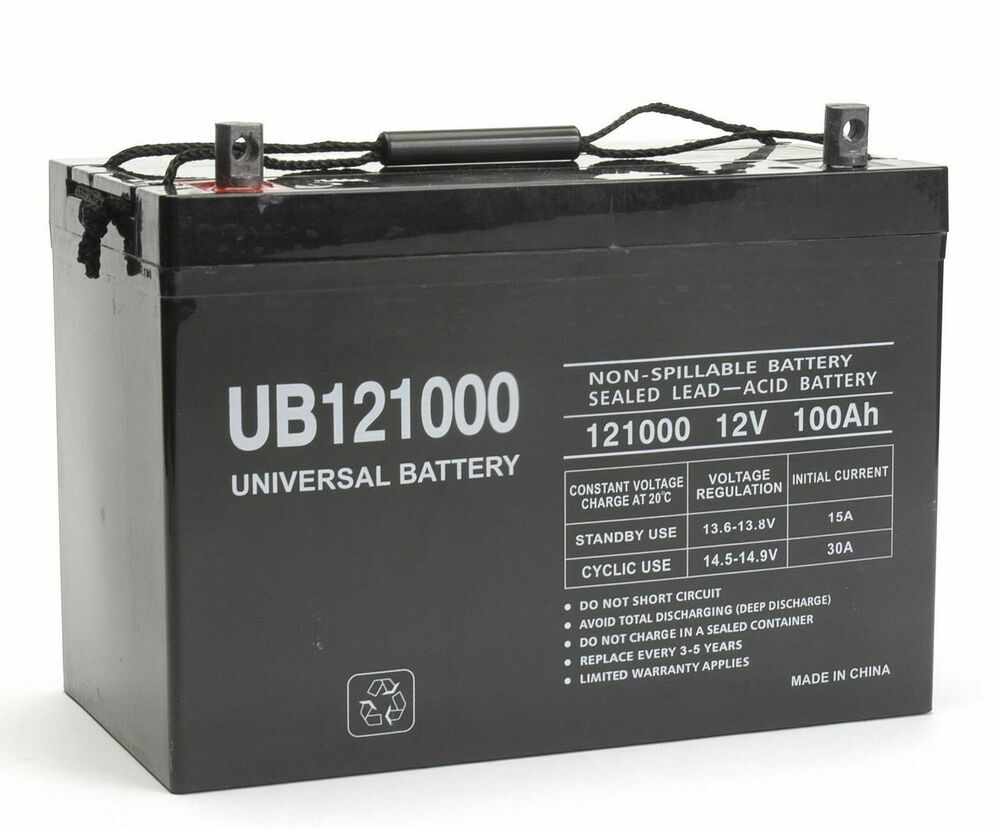 new ub121000 45978 12v 100ah 90ah battery scooter. Black Bedroom Furniture Sets. Home Design Ideas