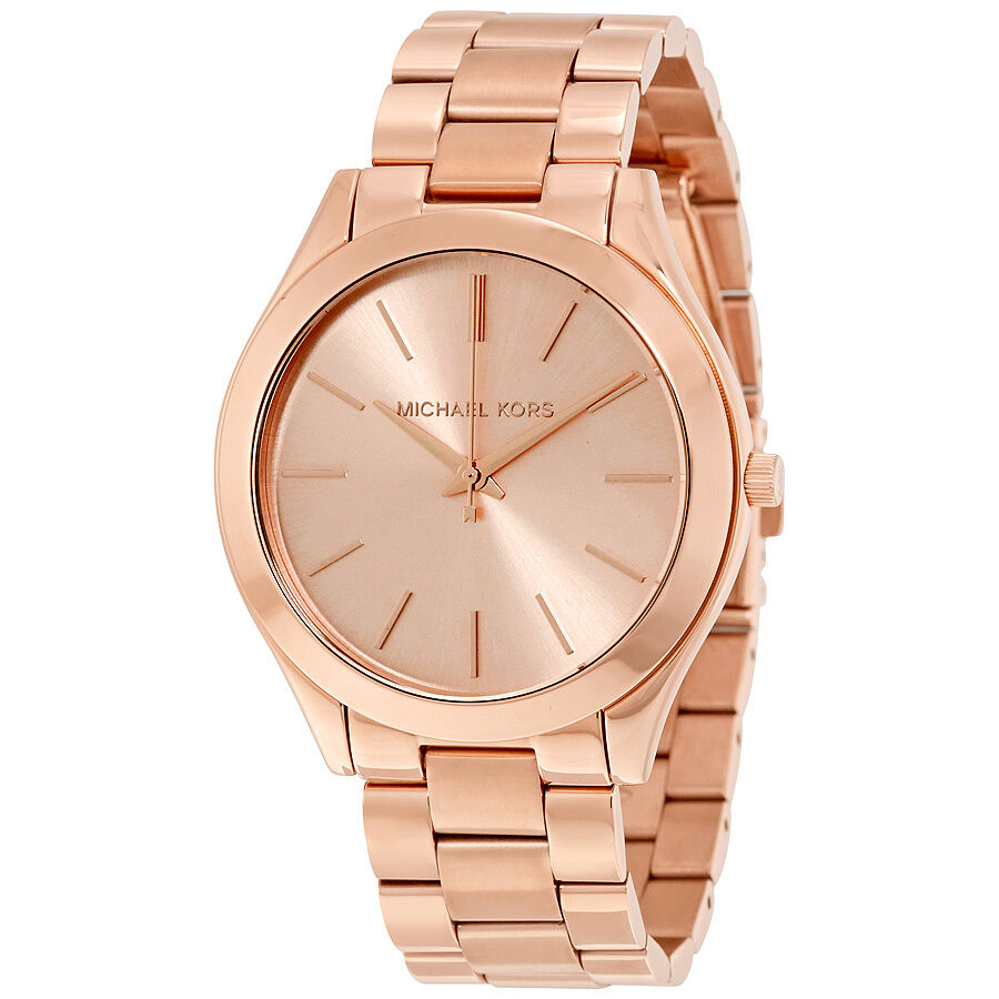 michael kors runway rose gold tone ladies watch mk3197. Black Bedroom Furniture Sets. Home Design Ideas