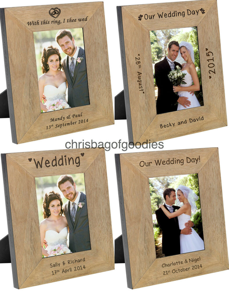 Personalised Wedding Gifts For Bride And Groom Singapore : PERSONALISED WEDDING PHOTO Frame Gifts Presents For Bride and Groom ...