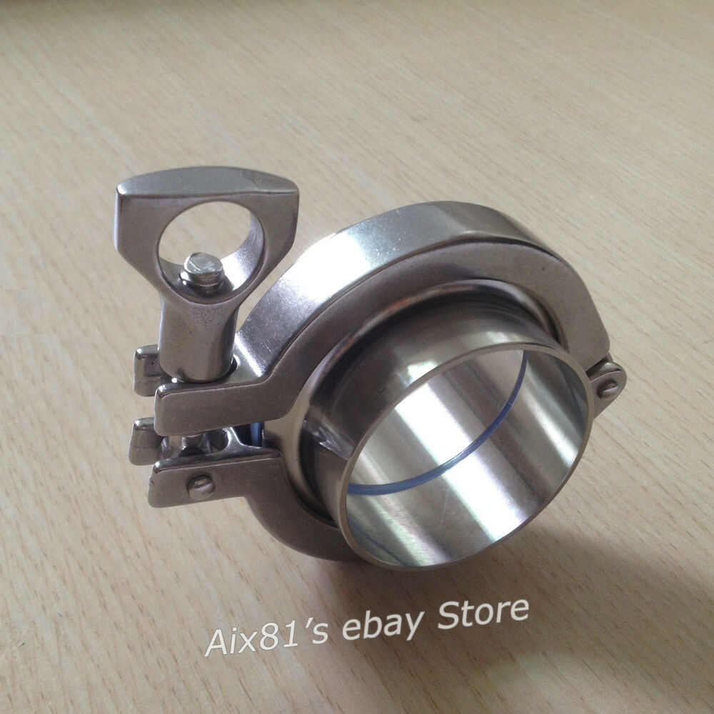 Quot tri clamp assembly stainless steel sanitary weld