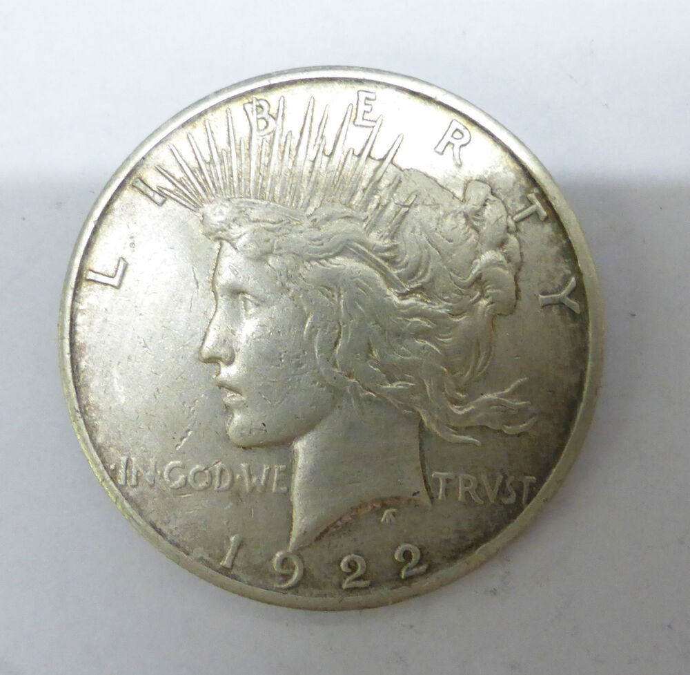 1922 United States Silver Liberty Peace Dollar Coin Ebay