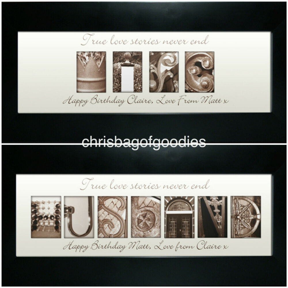 PERSONALISED FRAME Birthday Wedding Anniversary Gifts for WIFE HUSBAND ...