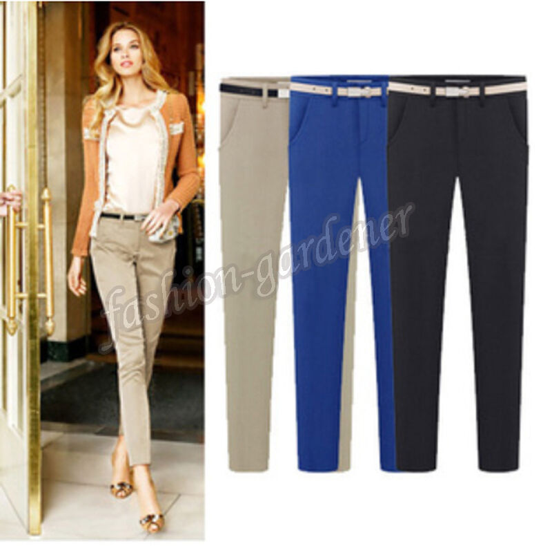 Innovative Khaki SKU  Wholesale VANCL Slim Cut Business Casual Pants Women