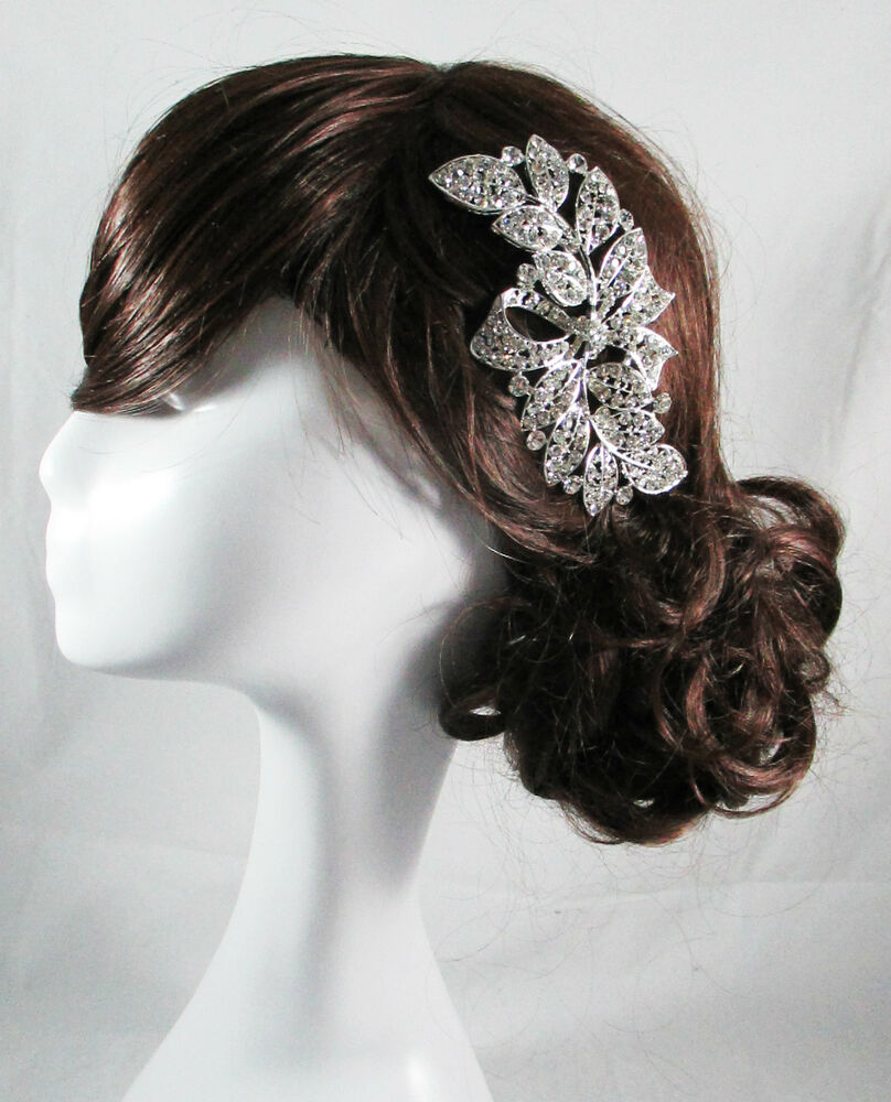 Vintage wedding bridal comb bride silver hair accessories for Where to buy wedding accessories