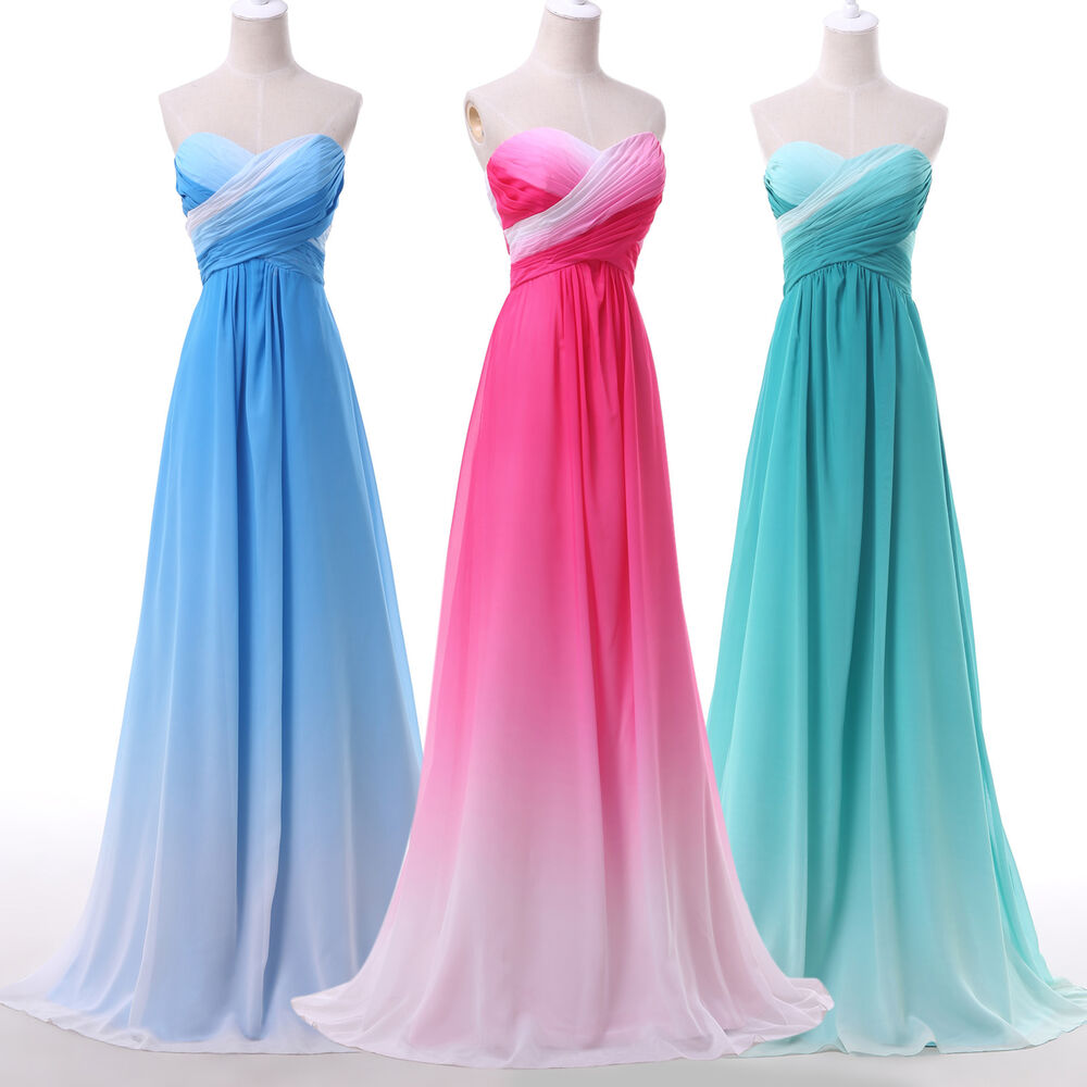 Wedding Dresses Evening Gowns: Stunning Gradient Evening Formal Ball Gown Party Prom