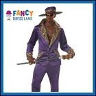 Mens Purple Pimp Suit Gangster Costume