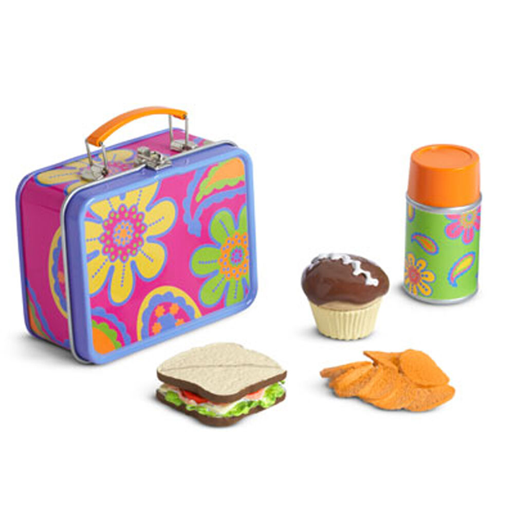 american girl julie school lunch box set new in box doll food sandwich julie 39 s ebay. Black Bedroom Furniture Sets. Home Design Ideas