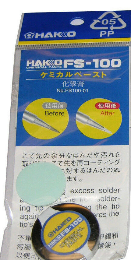 hakko fs 100 fs100 01 tip cleaning paste use w ft700 05 tip cleaner or without ebay. Black Bedroom Furniture Sets. Home Design Ideas