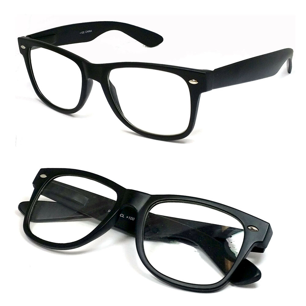 Retro Square Frame Clear Lens Reading Glasses Various ...