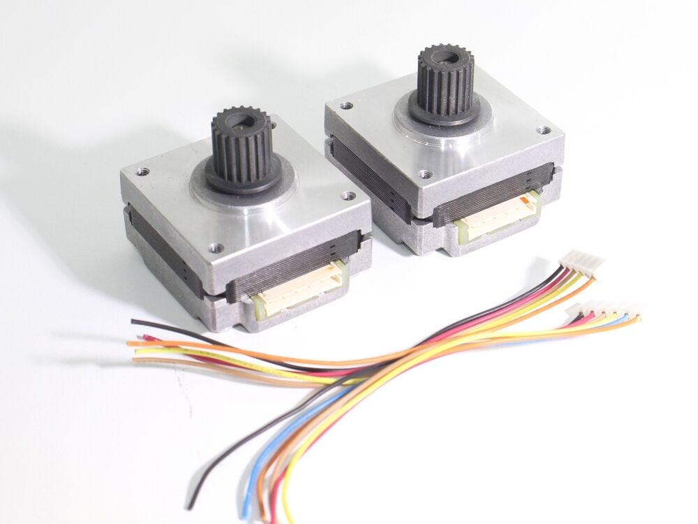 2 x nema 16 stepper motors gt2 pulley robot 3d printer On linear motion stepper motor