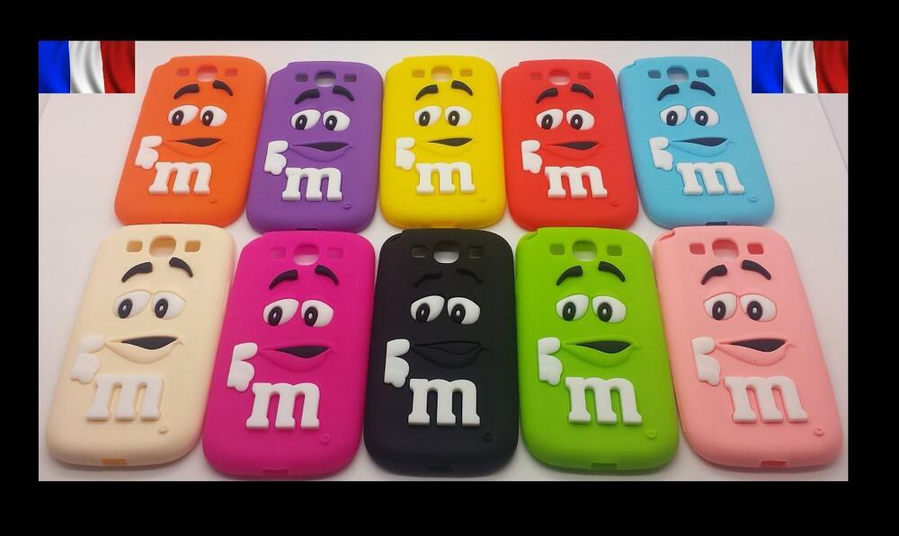 Coque case etui housse mm 39 s m m 39 s silicone galaxy s3 s4 s5 for Housse samsung galaxy s4 mini