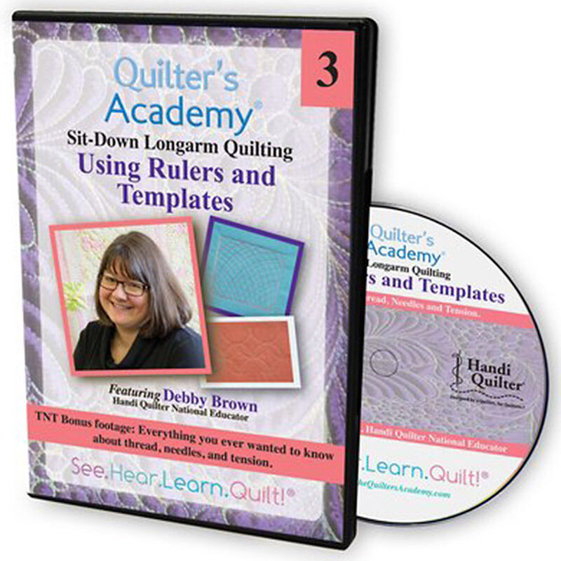 quilters rulers and templates - new dvd quilter 39 s academy sitdown longarm quilting using