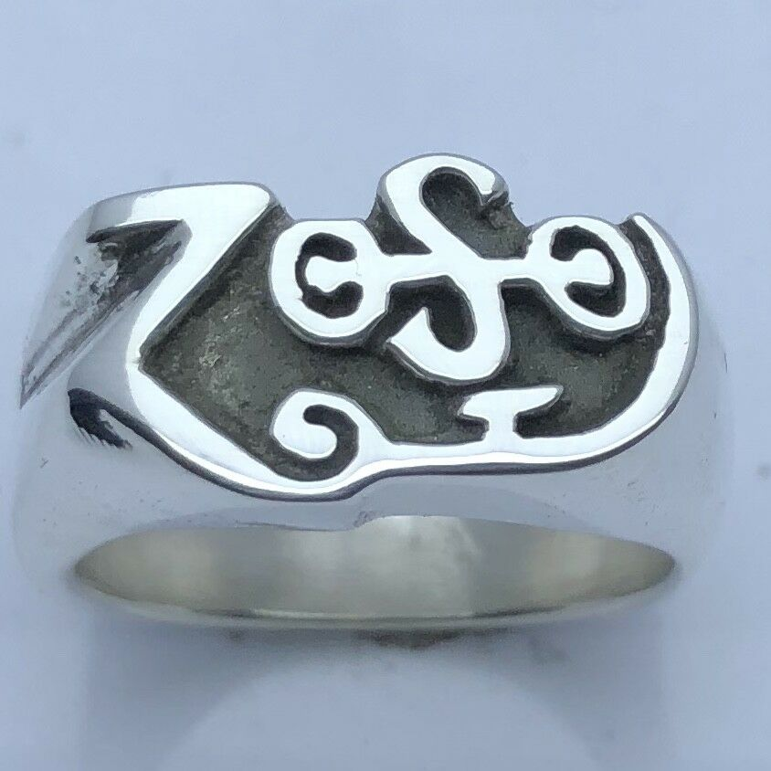 Mjg sterling silver zoso ring jimmy page led zeppelin for Jimmy s fine jewelry