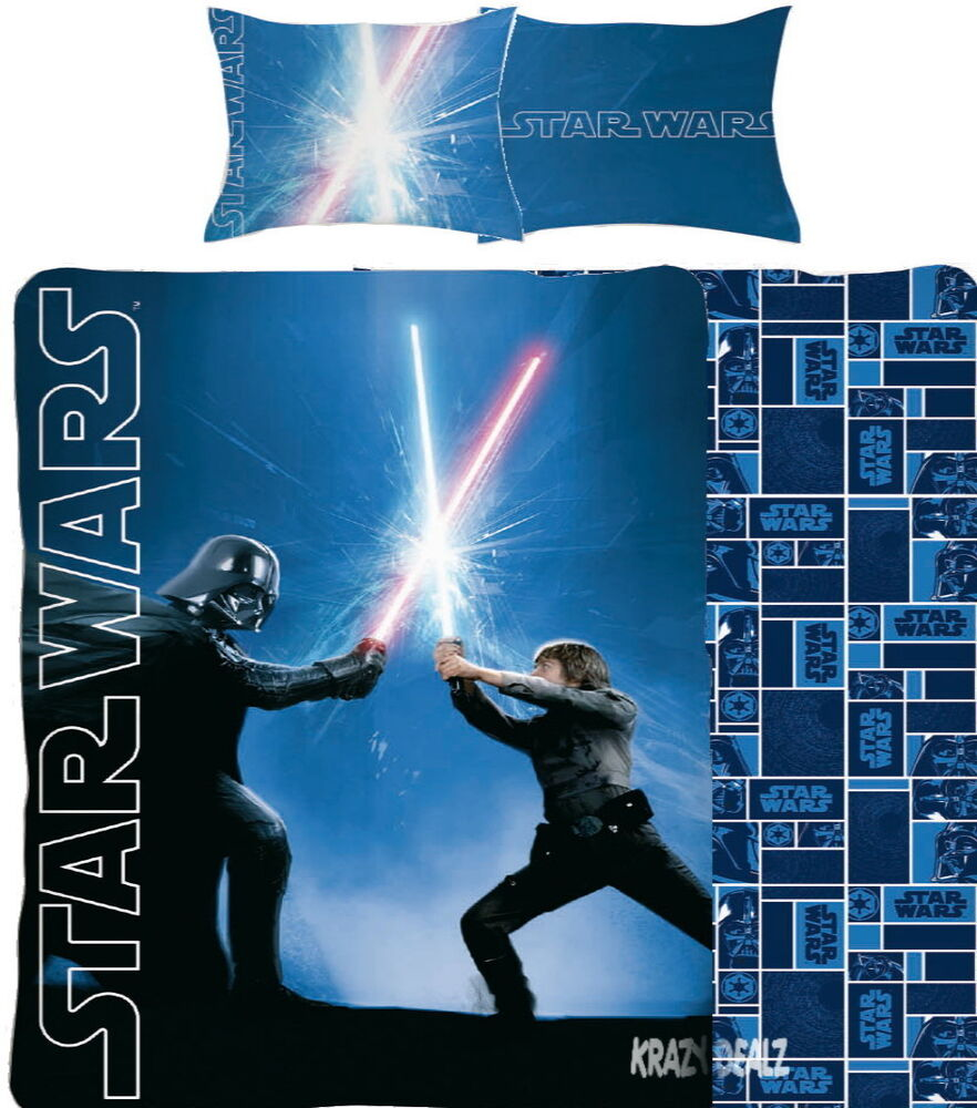 Star Wars Classic Single Panel Duvet Cover Bed Set Jedi