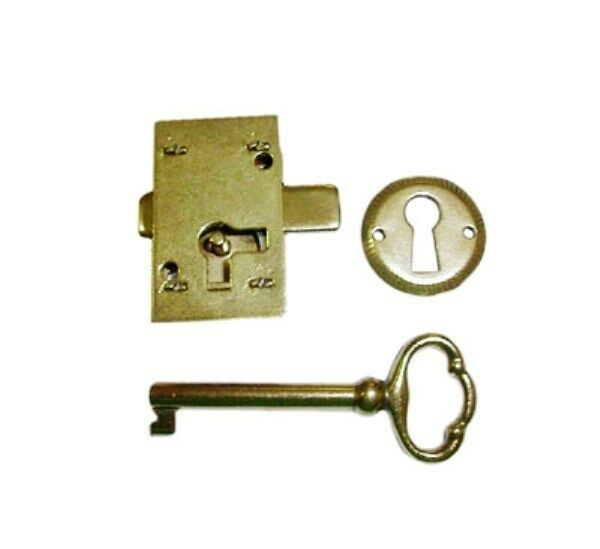 Antique style door drawer lock surface mount n8826 03 ebay for Surface lock