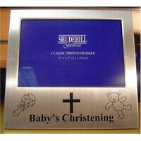 "BABY CHRISTENING PICTURE PHOTO FRAME 5"" x 3.5"" BY SHUDEHILL GIFTWARE"